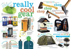 GoCottage Magazine: Really Cool Gear Spread
